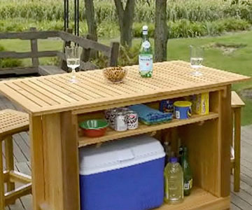Outdoor Wood Bar Plans