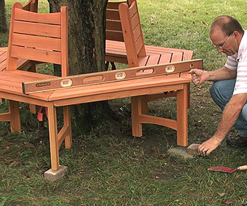 Woodworking plans wood tree bench pdf plans for Benches that go around trees