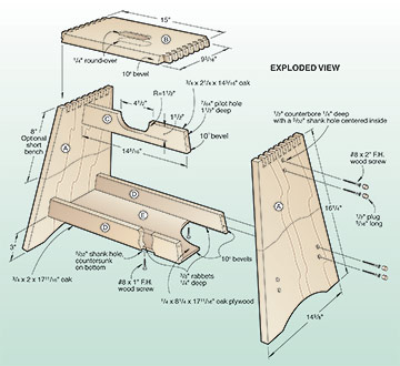 plans wooden step stool