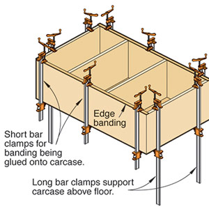 Bar clamps offer a leg up when facing a carcase