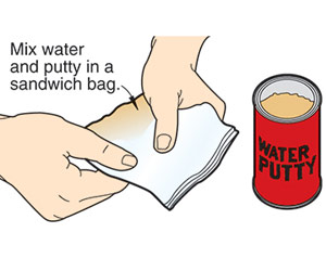 Bag the putty for neater results