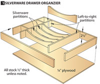 Exploded view of drawer