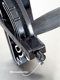 Powermatic miter gauge detail
