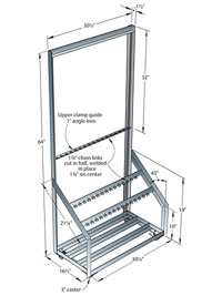 Frame for clamps