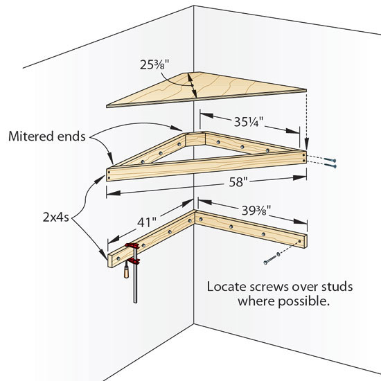 woodworking plans corner shelf - DIY Woodworking Projects