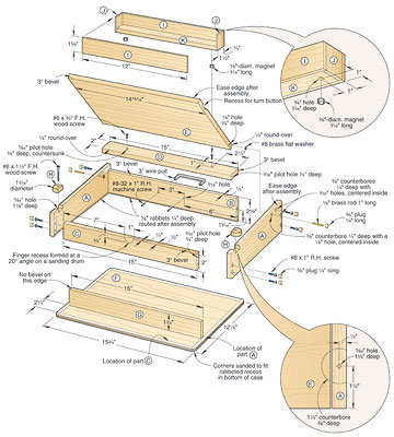 woodworking plans lap desk
