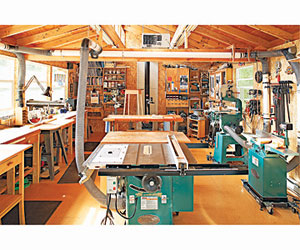 Woodworking shop layout 2 car garage model black for One car garage woodshop