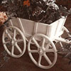 White cart w/flowers