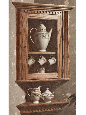 Cabinet with tea-cup set