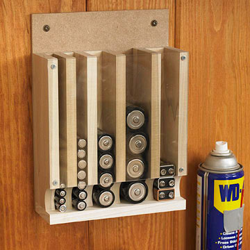 If Youu0027re Tired Of Digging Through Drawers And Cupboards To Find The  Right Size Battery, Build This Handy Organizer And Keep Fresh Power Just An  Armu0027s Reach ...