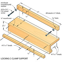 Locking c-clamp support