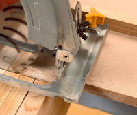 Base of saw cutting