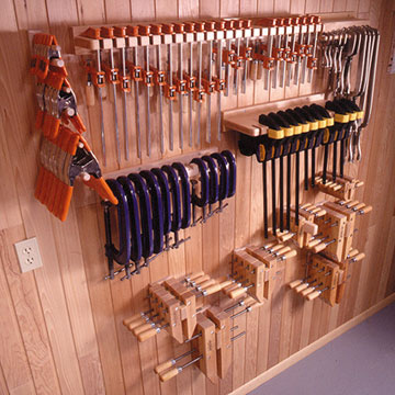 Wood Clamp Storage