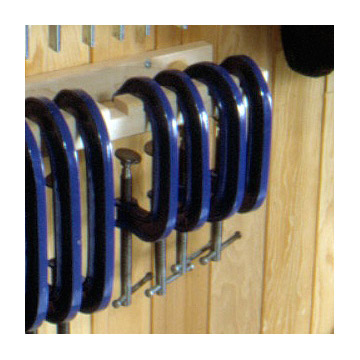 Great Clamp Organizers: Notch shelf for C-clamps