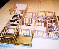 Deck added to house model