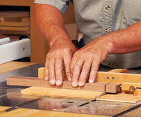 Using jig on tablesaw