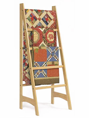 Quilt Rack Ladder Plans