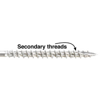 Screw/secondary threads