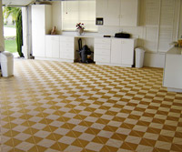 Floor with checker pattern on it