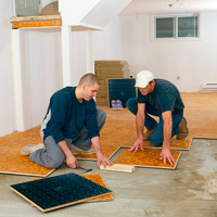 Men working on floor