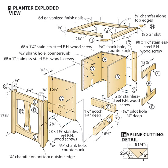 DIY Planter Box Construction Detail Plans Free Wood Work Planter box ...