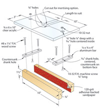 Drawing of Router Mortising Jig