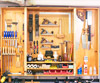 Wall cabinet with tools
