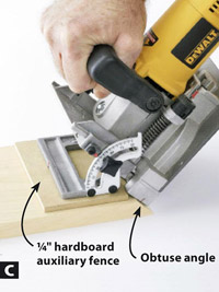 Tool Review Biscuit Joiners Slotting Miter Cut Workpieces