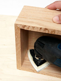 Sanding drawer box