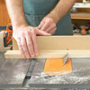 Front view of cutting with tablesaw, blade at an angle