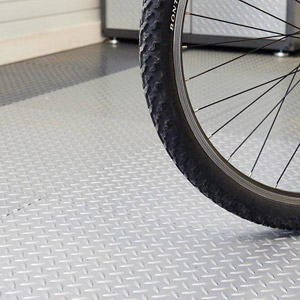 Floor with bycicle tire