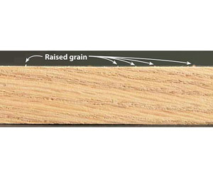 Copy on photo: Raised grain
