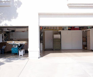 Garage doors opened