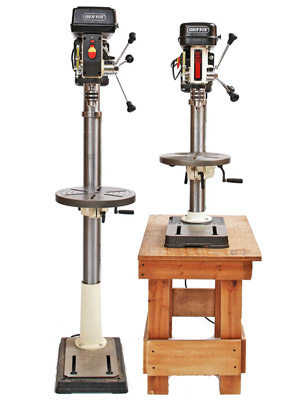 Floor and benchtop drill presses