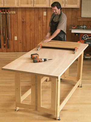folding work table plans