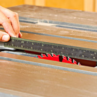 Ruler on saw table