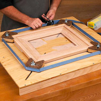 Adjustable picture frame jig