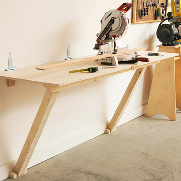 folding work bench design