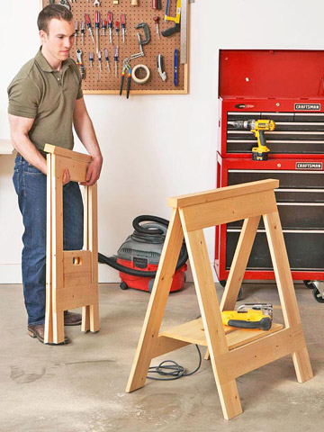 Folding Sawhorse Woodworking Plans
