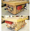 Mobile Assembly Table with Clamp Storage