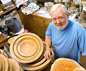 Doug and his wooden bowls