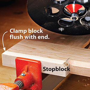 Rout stopped cuts with stopblocks