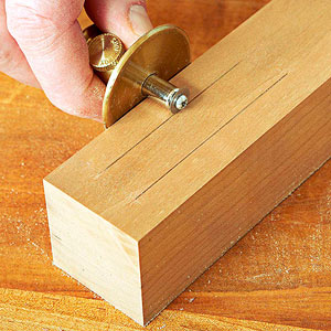 Make meticulous mortise marks