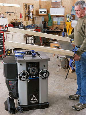 Tablesaw w/ man / 2 boards