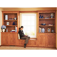 Free Built-in Bookcase and Cabinet Plan