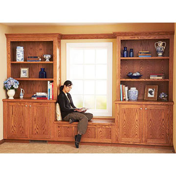 free builtin bookcase plans