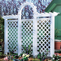Large white trellis
