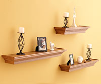 Shelves on a wall
