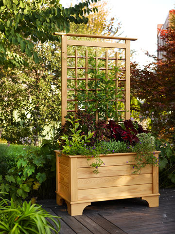 Cedar Trellis Planter Box Plans