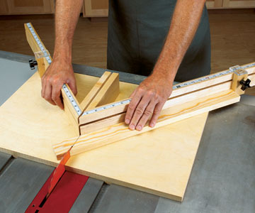 Free Tablesaw Miter Sled Woodworking Plan